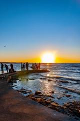 Sunset Gathering at Helsingborg Beach Pier