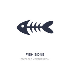 fish bone icon on white background. Simple element illustration from Animals concept.