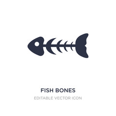 fish bones icon on white background. Simple element illustration from Animals concept.