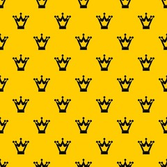 Princess crown pattern seamless vector repeat geometric yellow for any design