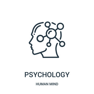 psychology icon vector from human mind collection. Thin line psychology outline icon vector illustration. Linear symbol for use on web and mobile apps, logo, print media.