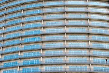 blue skyscraper windows bright texture