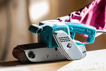Wood sanding machines belt sander