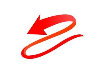 Arrow, rotation logo vector