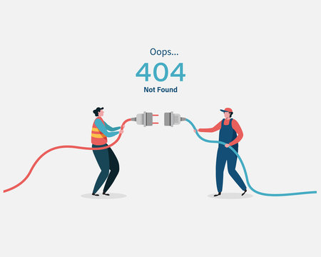 404 error page not found System maintenance for landing page.