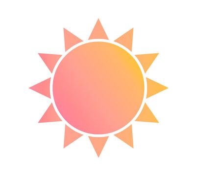 Pastel color gradient sun icon.