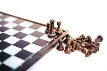 Image of chess game. Isolated on the white background.