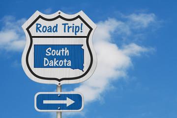 South Dakota Road Trip Highway Sign