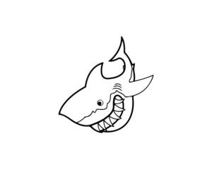 shark, fish, sea