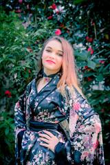 Jeune fille au kimono