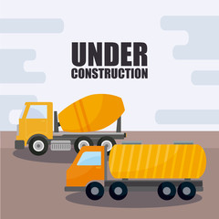 under construction vehicles icons