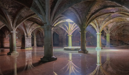 Ancient Portuguese cistern in the Mazagan. El Jadida city , Morocco. Fototapete