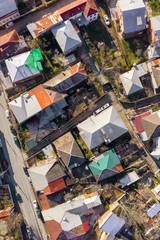 Kutaisi rooftops. Aerial photo of Kutaisi in Georgia