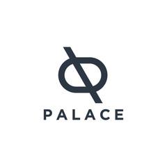 Real estate logo with innitial D ,home logo,house logo, property logo,building logo,vector logo template