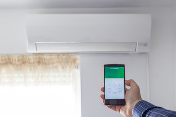 Air condition control through smartphone app