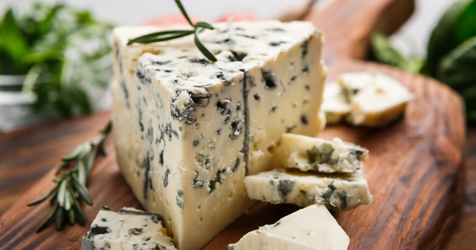 Blue cheese and rosemary