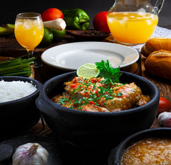 Moqueca fish and shrimp, traditional dish of Brazilian cuisine