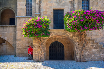 beautiful Old Town of Rhodes, Dodecanese, Greece
