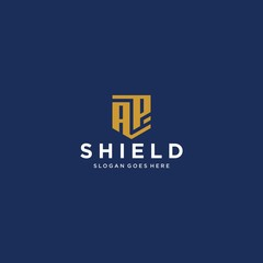 ap letter shield icon