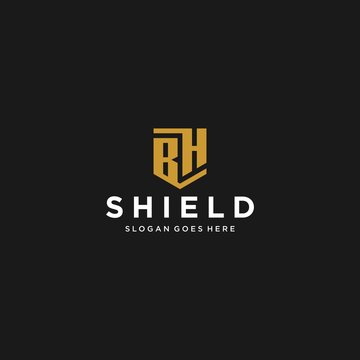 bh letter shield icon