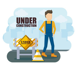 construction worker avatar character
