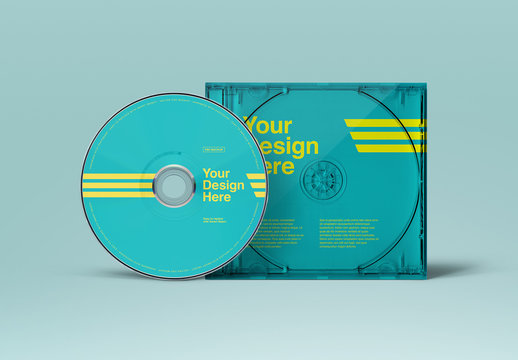 CD Case Front View Mockup