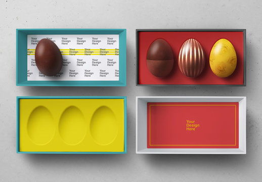Easter Egg Box Mockup