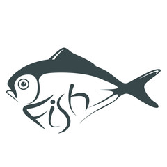 butterfish,vector illustration,,lining draw