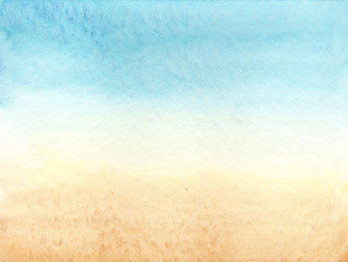 Abstract background blue beige beach