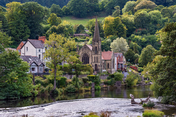 Llangollen town in north Wales