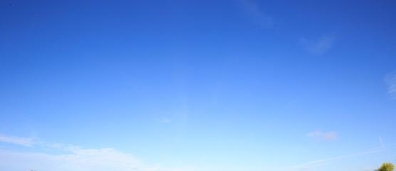 Fototapeta Blue Sky sunny day light whispy cloud replacement  obraz