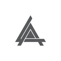letter la triangle geometric logo vector