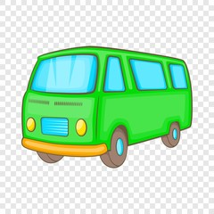 Classic van, retro style icon in cartoon style on a background for any web design