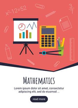 Science mathematics template design. Concept vector illustration