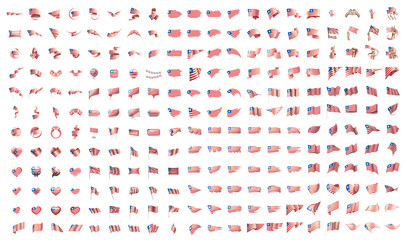 very big collection of vector flags of the Liberia