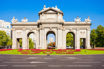 Alcala Gate in Madrid, capital of Spain