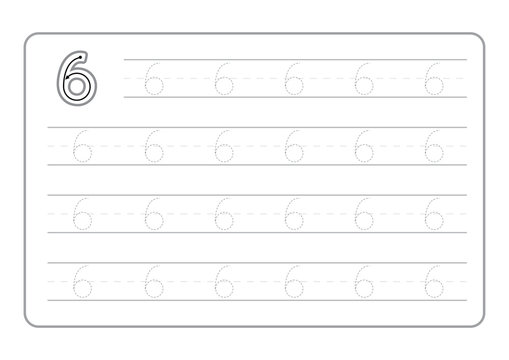 Free handwriting pages for writing numbers Learning numbers, Numbers tracing worksheet for kindergarten vector