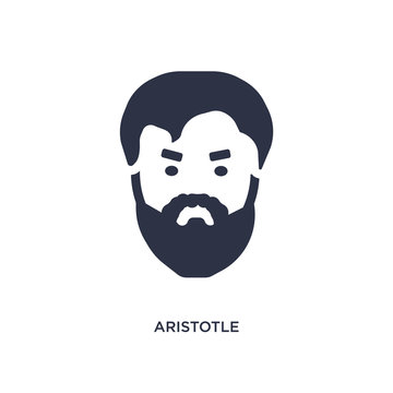 aristotle icon on white background. Simple element illustration from greece concept.