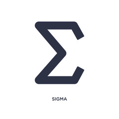 sigma icon on white background. Simple element illustration from greece concept.