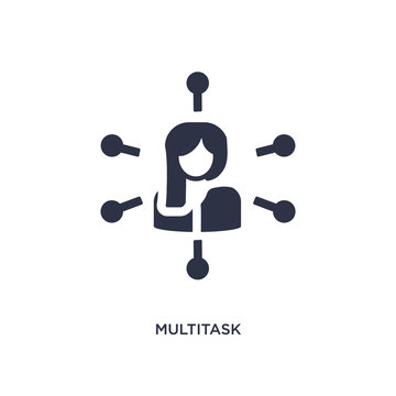 multitask icon on white background. Simple element illustration from human resources concept.