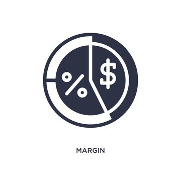 margin icon on white background. Simple element illustration from marketing concept.