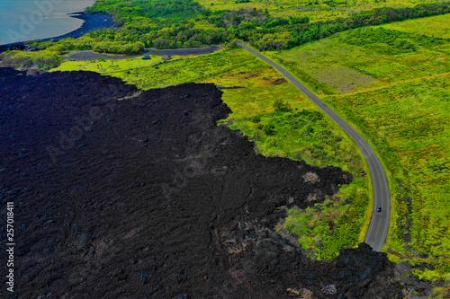 Lava auf Hawaii aus der Luft - Luftbilder von Big Island