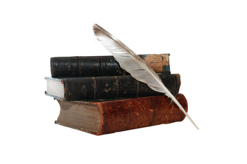 Books And Quill Pen