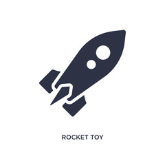 rocket toy icon on white background. Simple element illustration from toys concept.