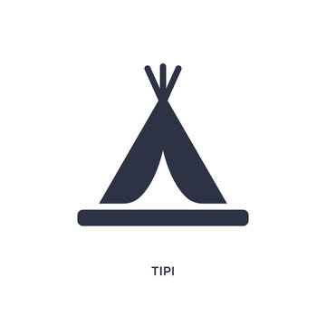 tipi icon on white background. Simple element illustration from stone age concept.