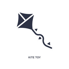 kite toy icon on white background. Simple element illustration from toys concept.