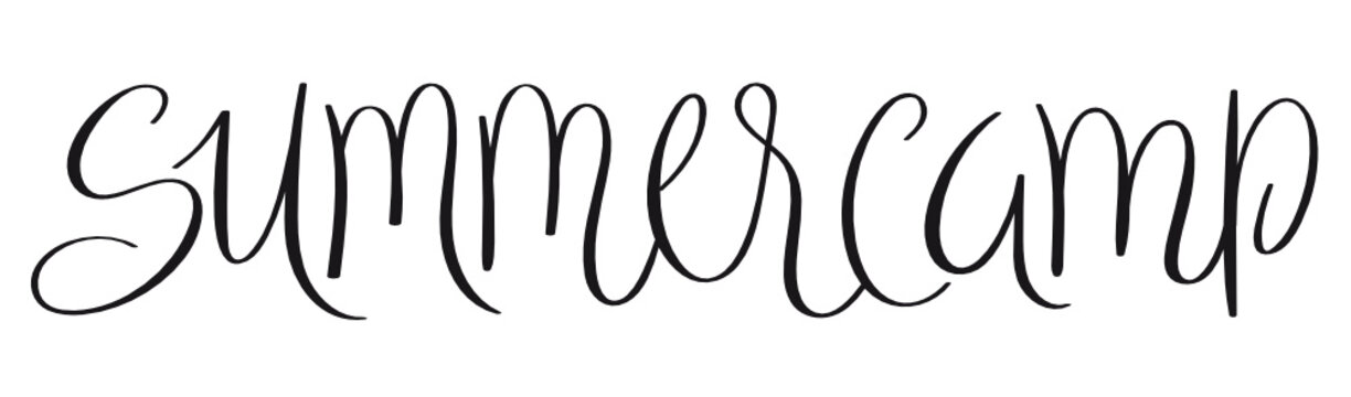 SUMMER CAMP brush calligraphy banner