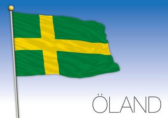 Oland regional flag, Sweden, vector illustration