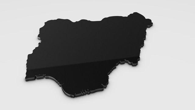 Niger 3D map illustration.