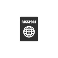Passport icon in simple design. Vector illustration
